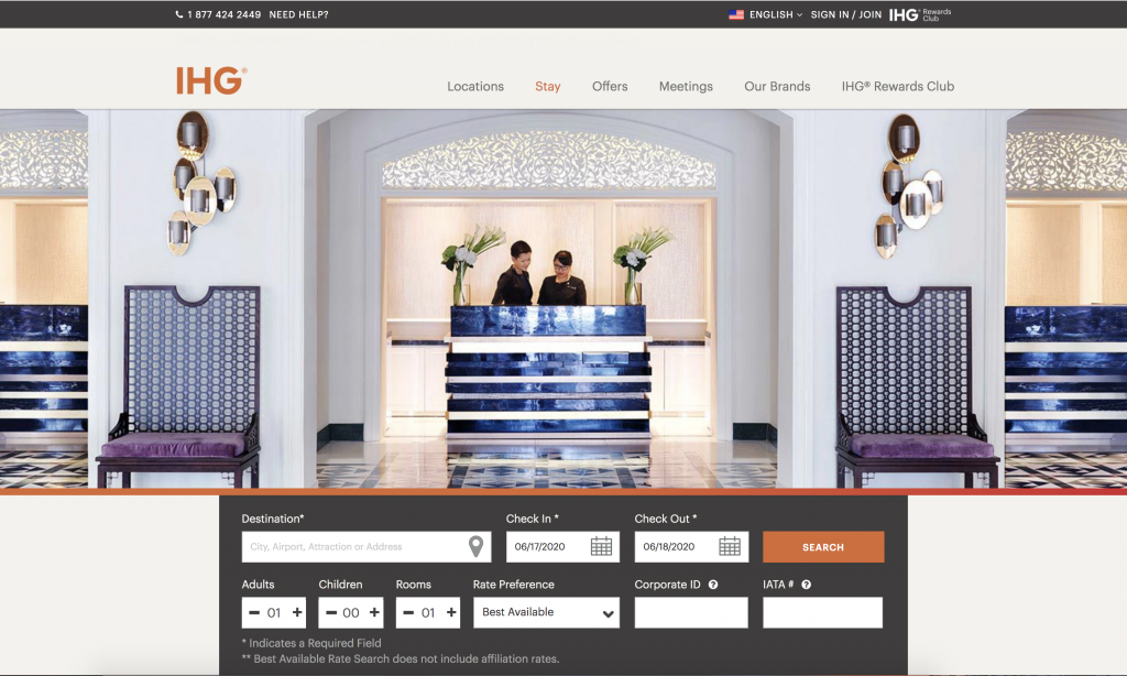 IHG Search Rate