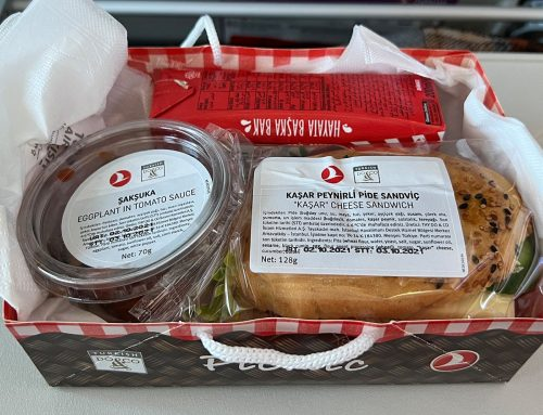 Food Review: Turkish Airlines 737 Economy from Istanbul to Kayseri